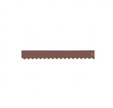 Bordure en acier galvanisé couleur rouille
