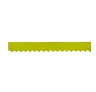 Bordure en acier galvanisé couleur vert