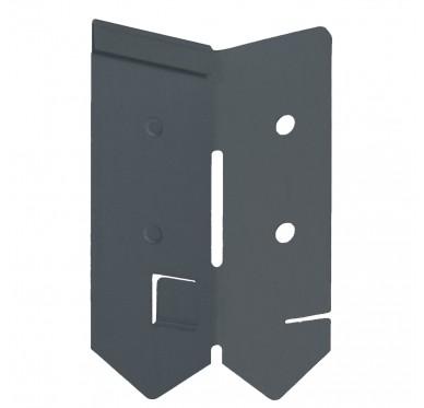Angle de bordure en acier galvanisé anthracite