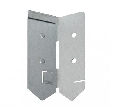 Angle de bordure en acier galvanisé gris
