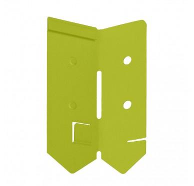 Angle de bordure en acier galvanisé vert
