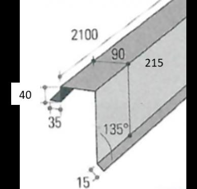 Bande de rive 2100 X 39,5 cm