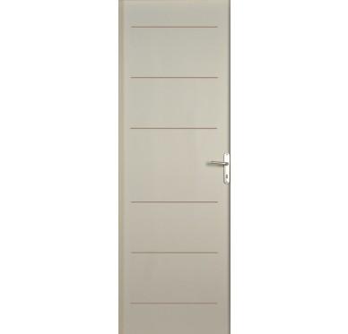 Porte seule intérieure blanche 6 traits 204 cm x 83 cm