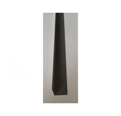 Cornière grise en PVC Gamme E.PRO 35 mm x 35 mm x 3000 mm