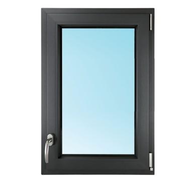 Fenêtre 1 vantail en PVC H95xL80cm