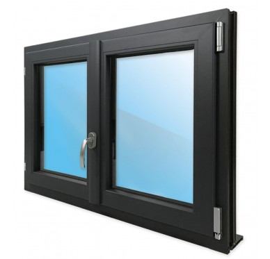 Fenêtre 2 vantaux en PVC H145xL140cm