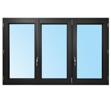 Fenêtre 3 vantaux en PVC H115xL180cm