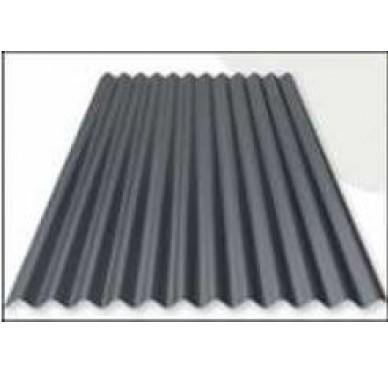 Tôle acier ondulée 200 X 100 Cm, Noire.