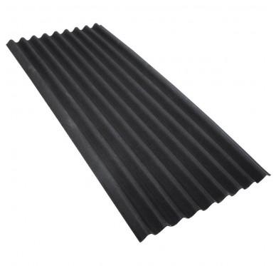 Tôle acier ondulée 300 X 100 Cm, Noire.