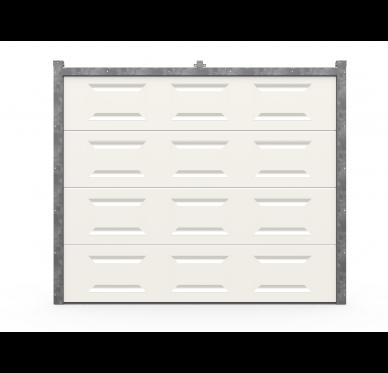 Porte de garage sectionnelle motorisée 240 x 200cm, blanc à cassettes