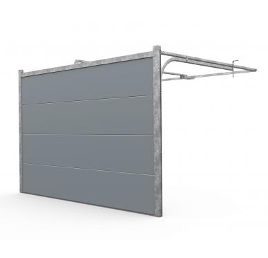 Porte de garage sectionnelle motorisée 300 x 200cm, gris
