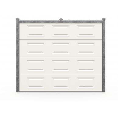 Porte de garage sectionnelle motorisée 300 x 200cm, blanc à cassettes