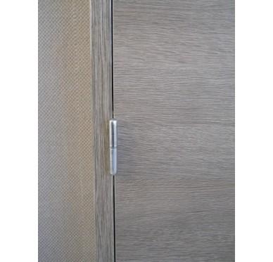 Bloc-porte intérieur mélaminé gris-orme 204x73 cm poussant gauche
