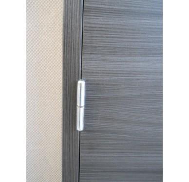 Bloc-porte intérieur mélaminé noir-ébène 204x83 cm poussant gauche