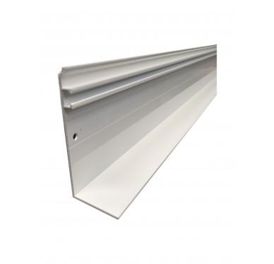 Faitière universelle + joint aluminium 4M, blanc