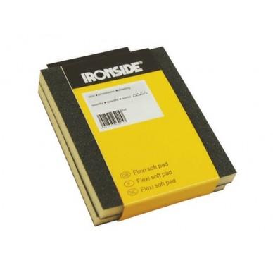 IRONSIDE - 2 CALES DOUCES ABRASIVES, 120x98x13mm. Grain 60