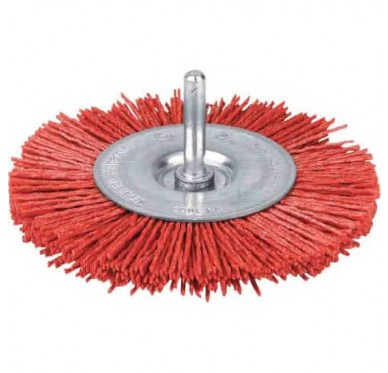 IRONSIDE - BROSSE CIRCULAIRE 75mm. ROUGE NYLON