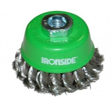 IRONSIDE - BROSSE COUPE 80mm. INOX TORSADÉ 0,35