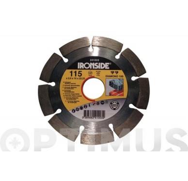 IRONSIDE - DISQUE DIAM 100, 125mm