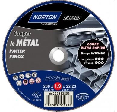 IRONSIDE - DISQUE TRONCONNER MÉTAL, 178 x 3,2 x 22mm