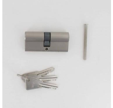 Barillet 60mm chrome satiné