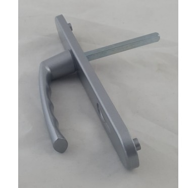 Poignée pour porte d'entrée en PVC gris entraxe 192 mm