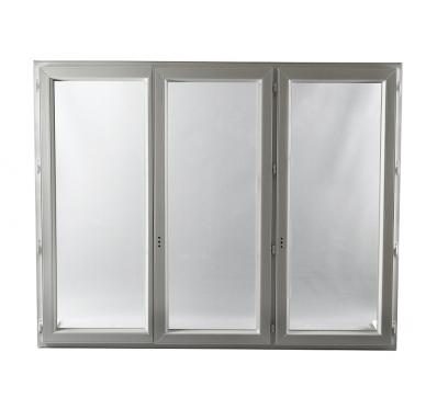 Fenêtre PVC  3 vantaux en Oscillo-Battante  H 125 x L 180 cm
