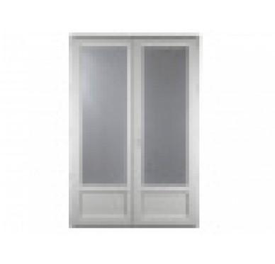 Porte-fenêtre 2 vantaux en PVC H225xL120cm