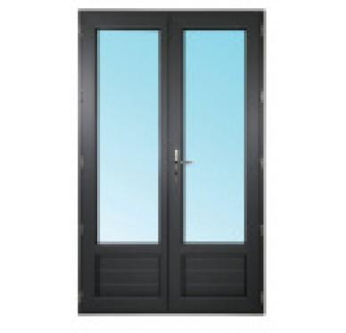 Porte-fenêtre 2 vantaux en PVC H215xL150cm