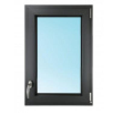 Fenêtre 1 vantail, tirant droit en PVC H75xL80cm