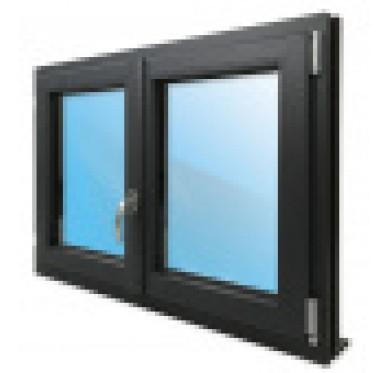 Fenêtre 2 vantaux en PVC H145xL120cm