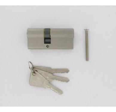 Cylindre 70mm chrome satiné