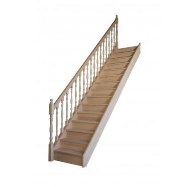 Escalier droit avec contremarche H280XR276CM