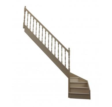 Escalier 1|4 bas gauche avec contremarche H300XR280CM