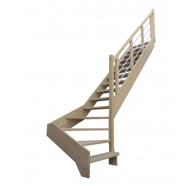 Escalier 1|4 bas droit sans contremarche H300XR280CM