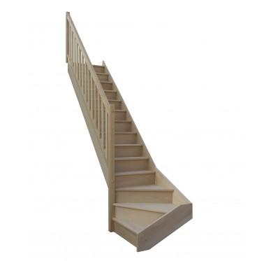 Escalier 1 4 bas gauche avec contremarche H280XR280CM