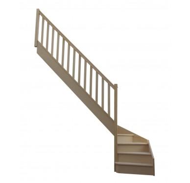 Escalier 1|4 bas gauche avec contremarche H280XR280CM
