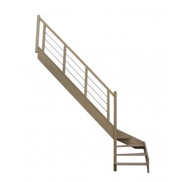 Escalier 1|4 bas gauche sans contremarche H280XR280CM
