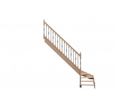 Escalier 1 4 bas gauche sans contremarche H280XR280CM