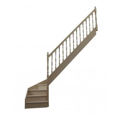 Escalier 1 4 bas droit avec contremarche H280XR255CM