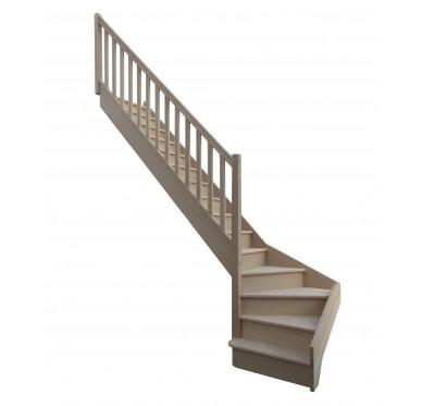 Escalier 1|4 bas gauche avec contremarche H280XR255CM