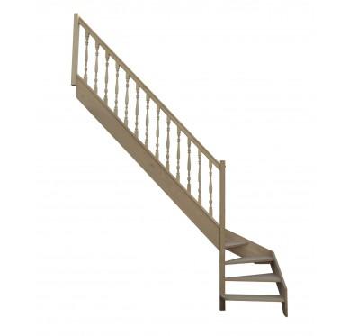 Escalier 1|4 bas gauche sans contremarche H280XR255CM