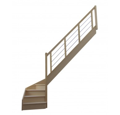 Escalier 1 4 bas droit avec contremarche H272XR280CM