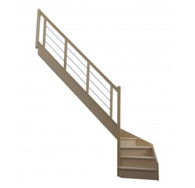 Escalier 1|4 bas gauche avec contremarche H272XR280CM
