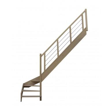 Escalier 1|4 bas droit sans contremarche H272XR280CM