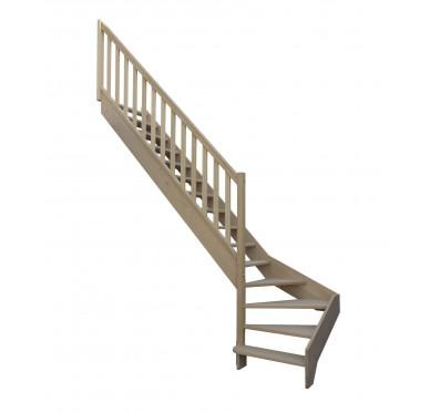 Escalier 1 4 bas gauche sans contremarche H272XR280CM