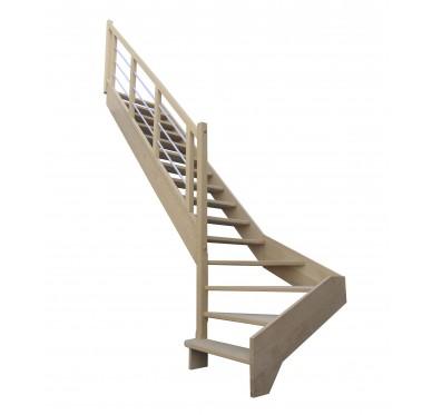 Escalier 1|4 bas gauche sans contremarche H272XR280CM