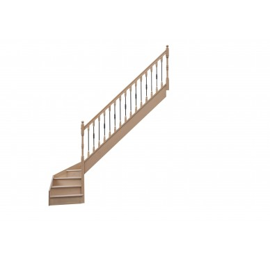Escalier 1 4 bas droit avec contremarche H272XR255CM