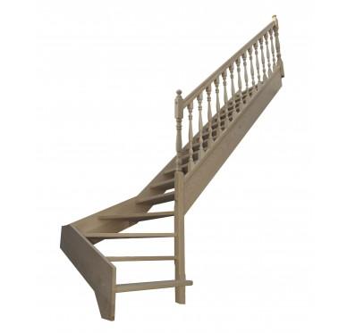 Escalier 1|4 bas droit sans contremarche H272XR255CM