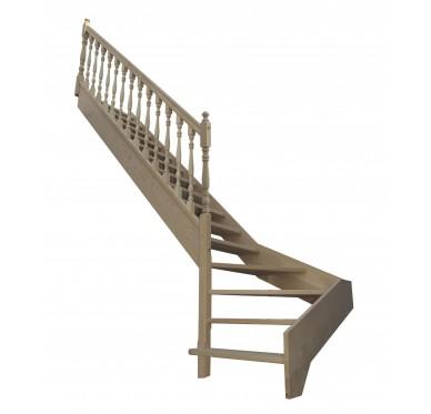 Escalier 1|4 bas gauche sans contremarche H272XR255CM
